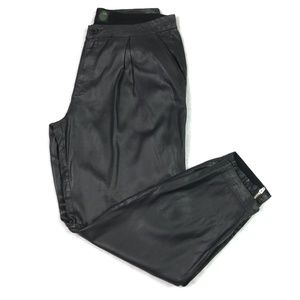 DWP Design With Purpose Black Coated Pants Skinny